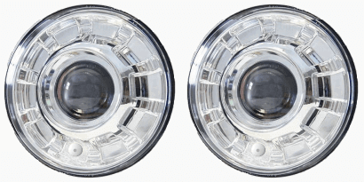 "7"" round HID headlights"