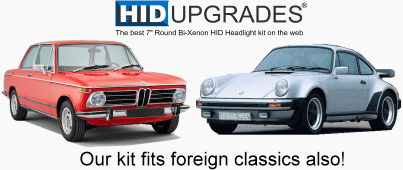 HID upgrade kit foreign classic cars